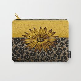 Animal Print Brown and Gold Animal Medallion Carry-All Pouch