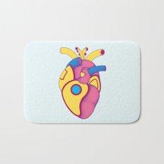Yellow Submarine Heart Bath Mat