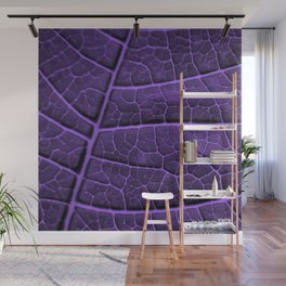LEAF STRUCTURE ULTRAVIOLET no3 Wall Mural
