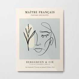 Exibition poster-Maître français-1953. Metal Print