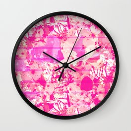 Cherry Bomb Stripe Wall Clock