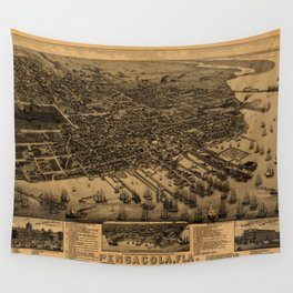 Map Of Pensacola 1885 Wall Tapestry