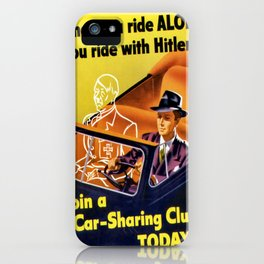 Vintage poster - Car-Sharing Club iPhone Case