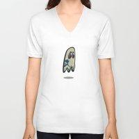 hokusai V-neck T-shirts featuring Hokusai Phantom by Cozmicflight