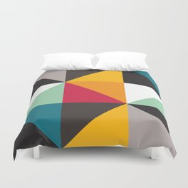 Geometric Pattern #30 (triangles) Duvet Cover
