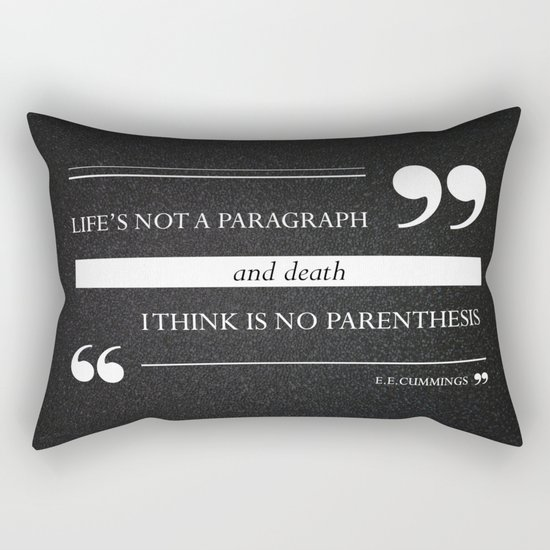 Parenthesis Rectangular Pillow