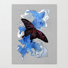 Butterfly II ink by carographic, Carolyn Mielke Canvas Print