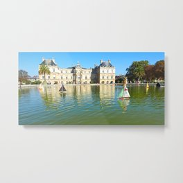 The Boating Pond in the Garden du Luxembourg Metal Print