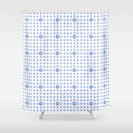 Star of David 24- Jerusalem -יְרוּשָׁלַיִם,israel,hebrew,judaism,jew,david,magen david Shower Curtain