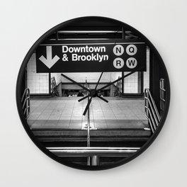 Downtown New York City Subway Wall Clock