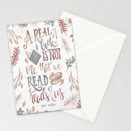 A REAL BOOK Stationery Cards