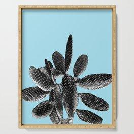 Black Light Blue Cactus #1 #plant #decor #art #society6 Serving Tray