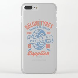 Deluxe Tyres Clear iPhone Case