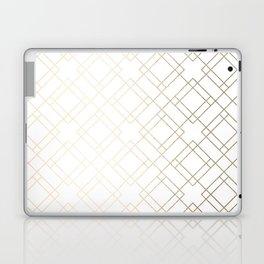Simply Mod Diamond White Gold Sands on White Laptop & iPad Skin