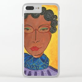 Funky Sista Clear iPhone Case