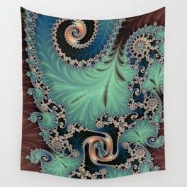 AZURE - Fractal Art Design  Wall Tapestry
