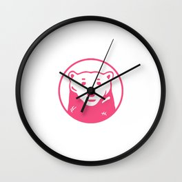 pink bear Wall Clock