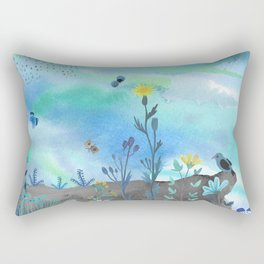 Blue Garden I Rectangular Pillow