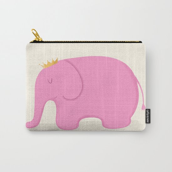 Queen Pink Elephant Carry-All Pouch