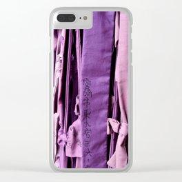 Prayer ribbon Clear iPhone Case