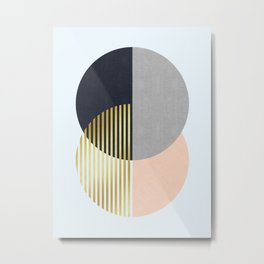 Fashion and golden circles I Metal Print