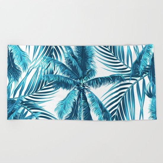 South Pacific palms II - oceanic Beach Towel