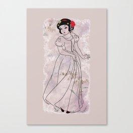 The White Sayuri Canvas Print