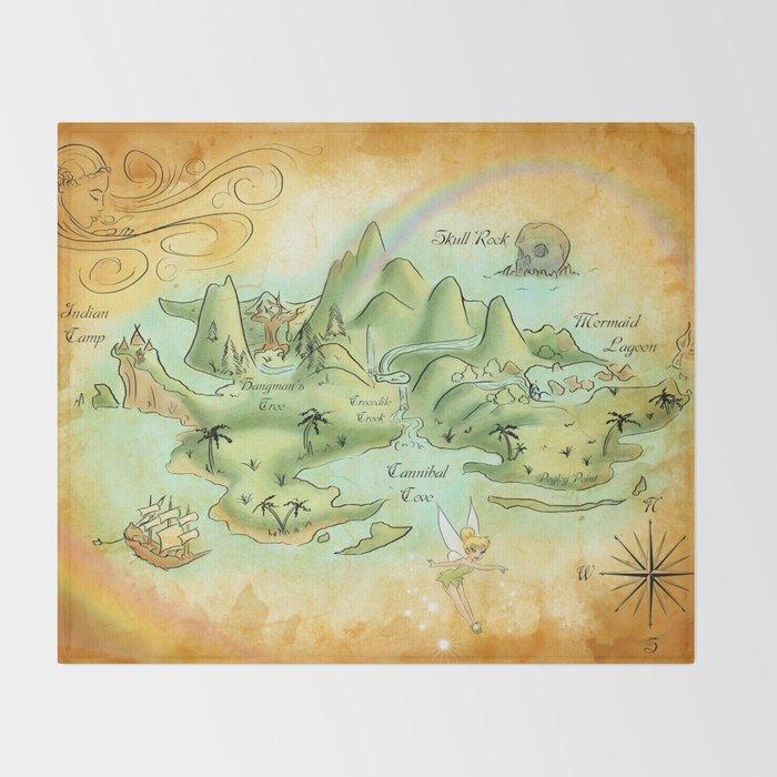 Neverland Map Throw Blanket By Mercedesjenningskrajny Society6