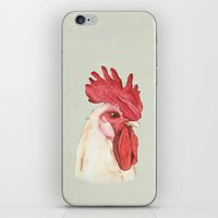 cock iPhone & iPod Skins featuring Cock by Marta Bocos