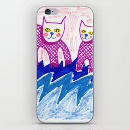 Cats on Water iPhone Skin