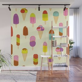 Ice Pops, Cream and Lollies Wall Mural