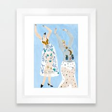 ChristianDior Dancers Framed Art Print