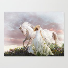 Lady in White Canvas Print