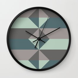 Cast Light in Charcoal and Green Wall Clock