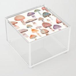 Watercolor Mushrooms Acrylic Box