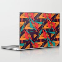 arya Laptop & iPad Skins featuring Hexagonal Lines and Triangles by Hinal Arya
