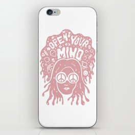 Open Your Mind in pink iPhone Skin