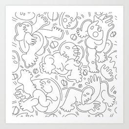 People Art Print