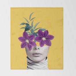 Floral Portrait 2 Throw Blanket