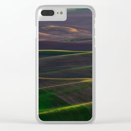 The Palouse Hills at Sunset Clear iPhone Case