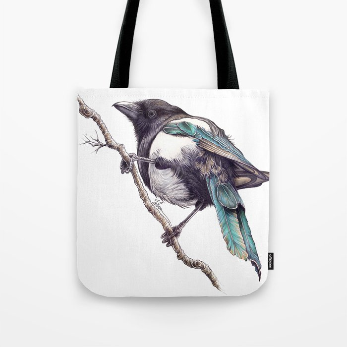 Juvenile Magpie 02 Tote Bag
