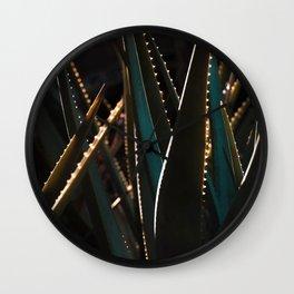 Golden Hour Cactus Wall Clock
