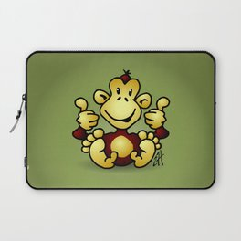 Manic Monkey with 4 thumbs up Laptop Sleeve