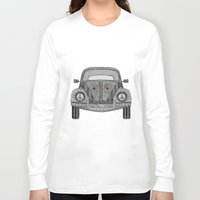 volkswagon Long Sleeve T-shirts featuring Tangled VW Bug by Cherry Creative Designs