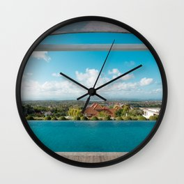 swimming pool in paradise Wall Clock
