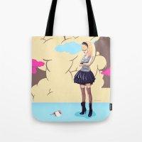 comic Tote Bags featuring Comic by monoguru