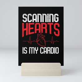 Scanning Hearts is My Cardio Mini Art Print