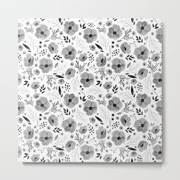 Lovely Little Floral Pattern Metal Print