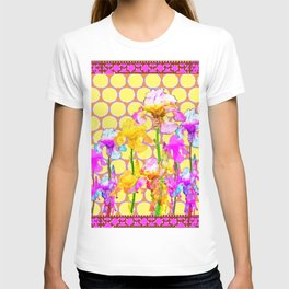 FUCHSIA-YELLOW IRIS GARDEN DESIGNS T-shirt