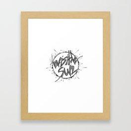 Invisible sun Framed Art Print